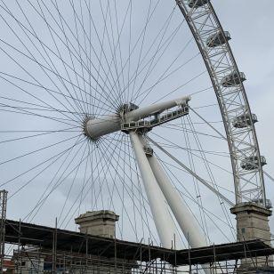 London Eye in Lockdown - as seen on 9 November at County Hall damp survey